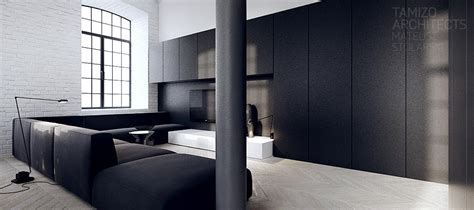 interior design black interior design in black white