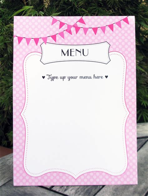 make your own menu template free 6 best images of create your own printable menus