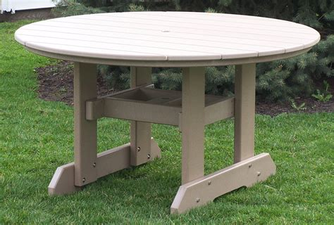 poly 54quot round dining table amish direct furniture