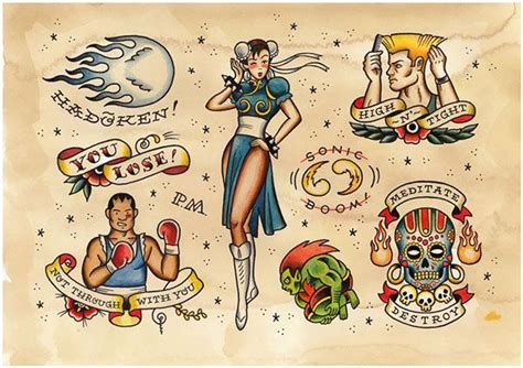 Tattoo Flash Game Online | game over videogame tattoo flash by phillip marsden