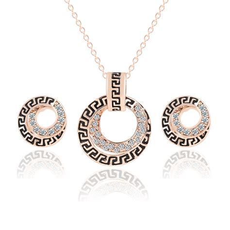 Pendant Statement Necklace Earrings Accessories fashion brand gold color wedding jewelry sets jewelry statement pendant necklace