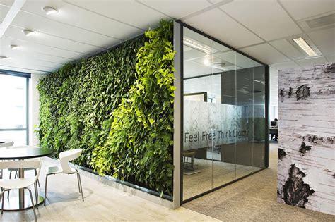 Hangende Planten Binnen by Een Scheidingwand Planten Im Plantenwand Intermontage