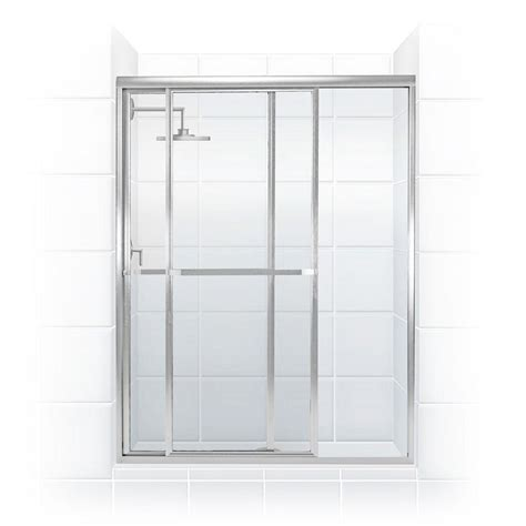Glass Sliding Shower Door Coastal Shower Doors Paragon Series 42 In X 66 In Framed Sliding Shower Door With Towel Bar In