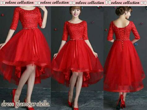 Dress Brukat Hitam Merah model dress brukat hairstylegalleries