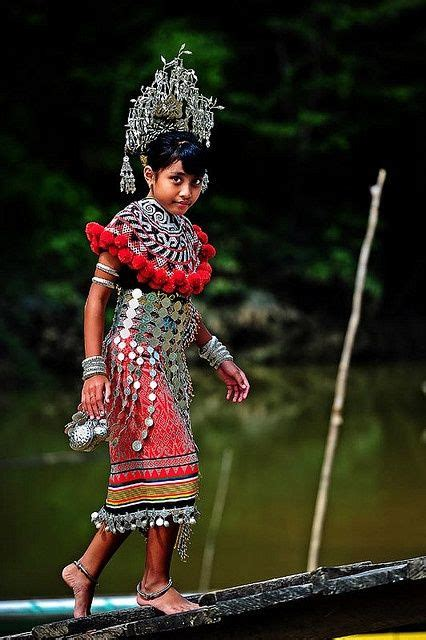 details about dayak girl photo costume jewels borneo iban branch of the dayak people of kalimantan indonesia