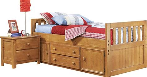 twin bed head rest of the room picture of cherry shop for a creekside 3 pc twin captains bed at rooms to go