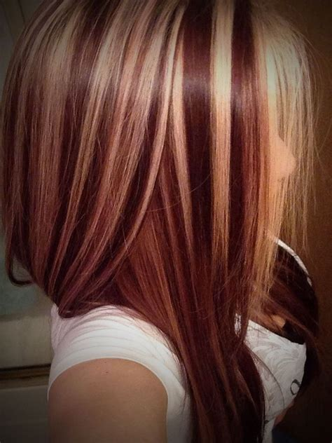 spectacular blonde  auburn hair color ideas