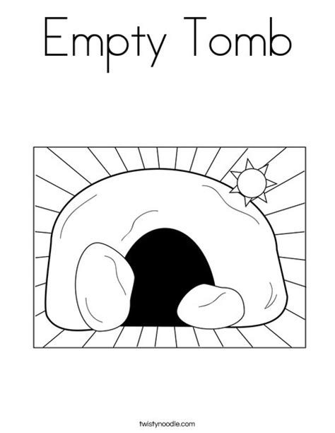 coloring pictures of jesus empty tomb empty tomb coloring page twisty noodle