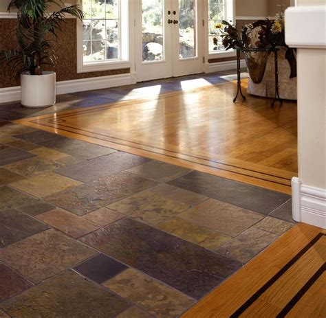 mixture of woof and tile floors slate and hardwood floor search flooring