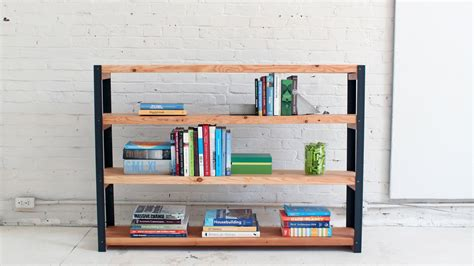 how to make an ironbound diy bookcase out of angle irons