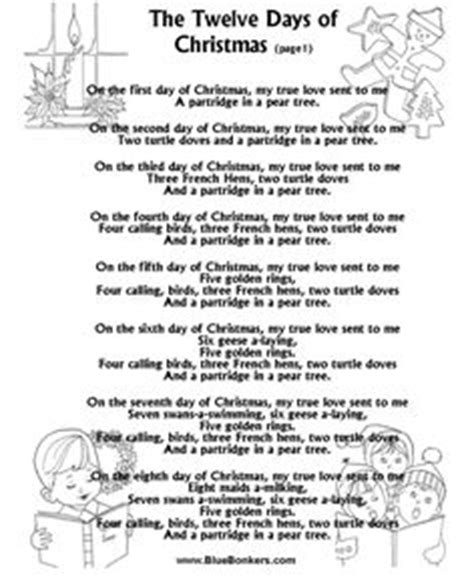 song lyrics printable version 1000 images about christmas carols on pinterest