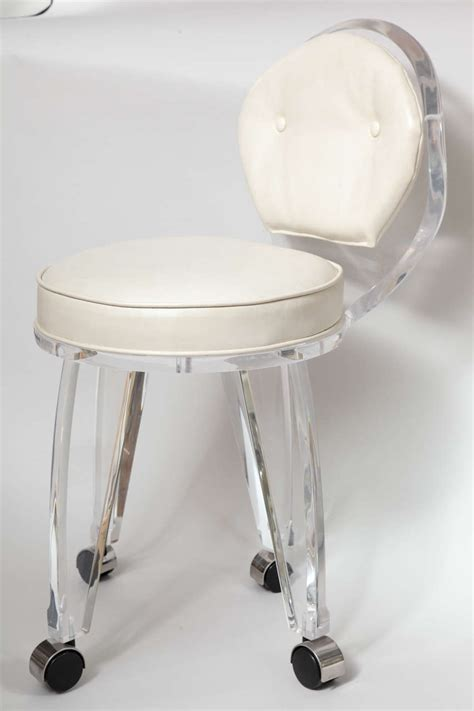 vanity chair with casters swivel vanity chair with wheels furniture glossy gold