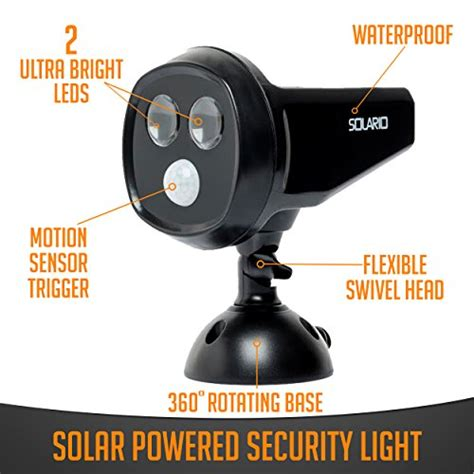 solar powered security spotlights motion activated lights