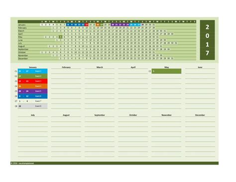 Calendar 2017 Excel 2017 And 2018 Calendars Excel Templates
