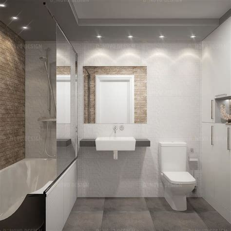 Beige And White Bathrooms by Bathroom White Beige Master Bathroom With Flat Panel