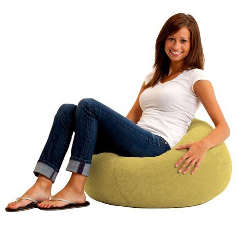 comfort research classic bean bag chair classic bean bag in comfort suede fabric by comfort