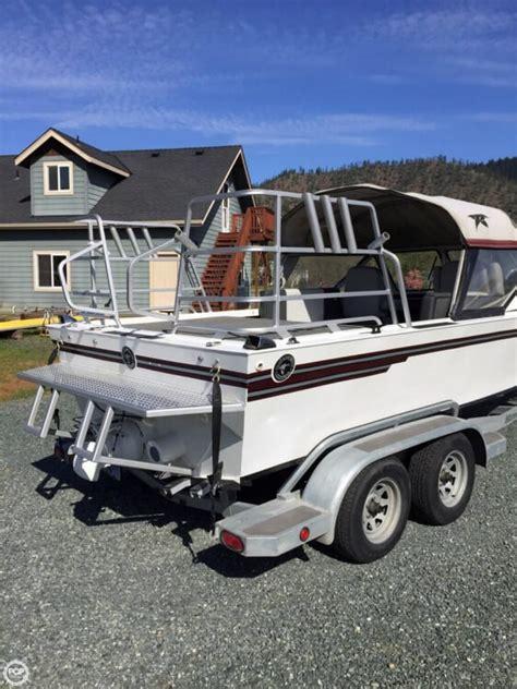 used duckworth boats oregon 1987 used duckworth 20 silver wing aluminum fishing boat