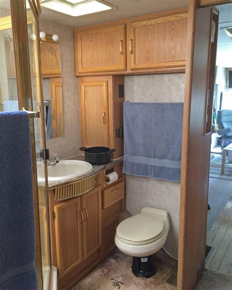 happened  rv renovation  bathroom edition
