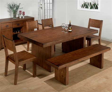 dining room tables with benches homesfeed - Benches For Dining Room Tables