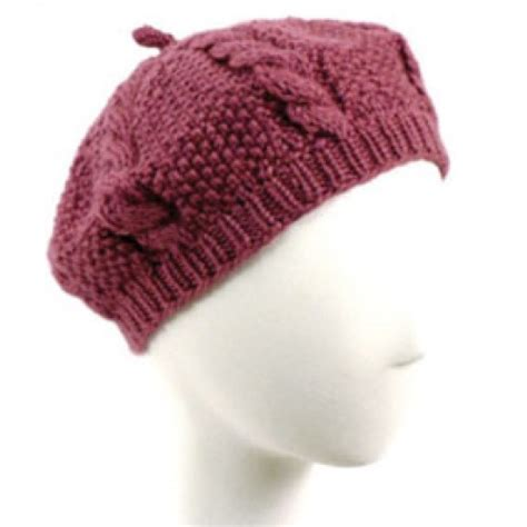 knitted beret free cabled beret knit pattern