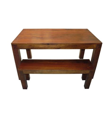 mango wood bench basil mango wood honey dining table with bench by mudra