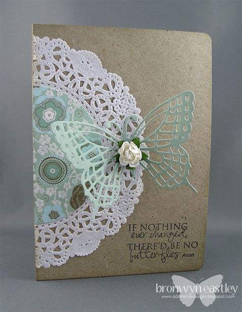 Paper Crafts Greeting Cards - i the added patterned paper to the doilies wonderful