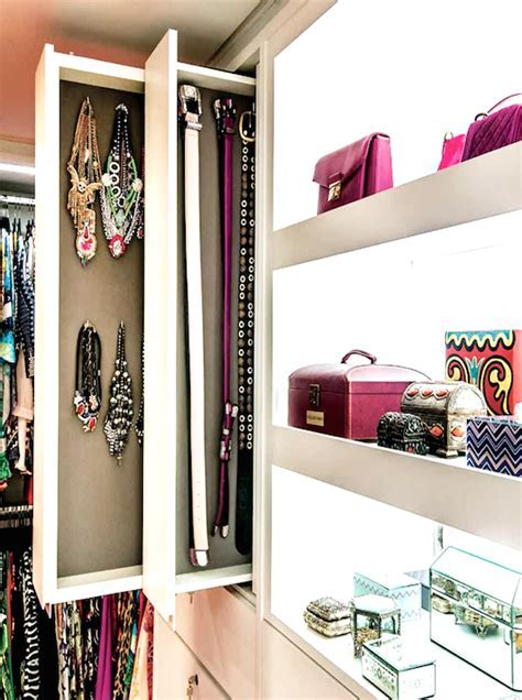 Closet with Pull Out Accessory Drawers   Contemporary   Closet