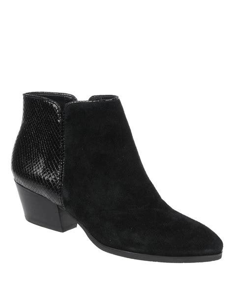 franco sarto quasar leather boots in black black