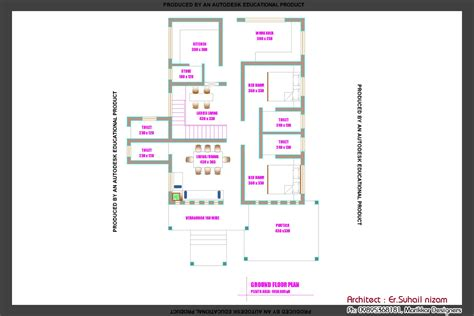 Kerala Home Design 1000 To 1400 Sq Ft beautiful kerala home plan and elevation at 2023 sq ft