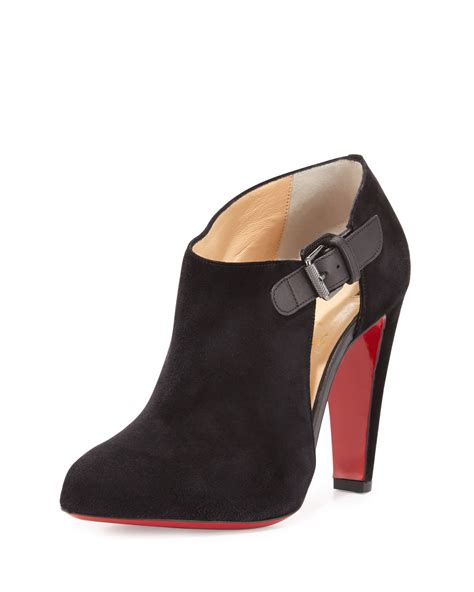 louboutin boots for christian louboutin seferme suede ankle boots in black lyst
