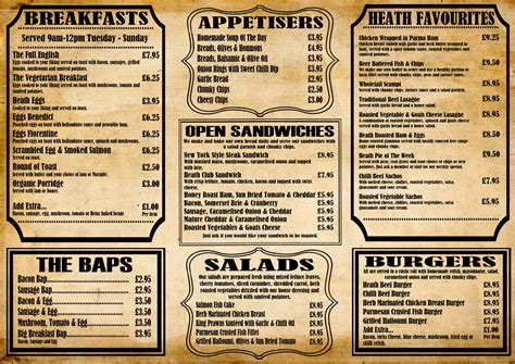 menu ideas cafe menu design ideas