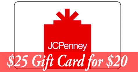 Penneys Gift Card - jc penney deals 25 gift card for 20 coupons 4 utah