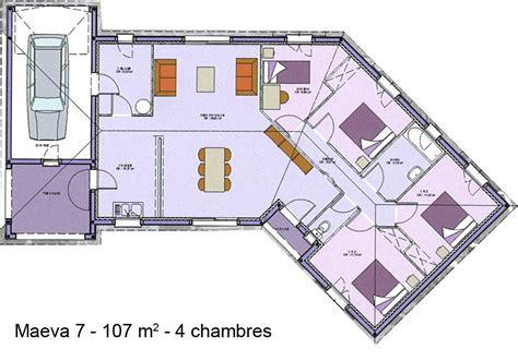 Plan De Maison 4 Chambres Plain Pied Gratuit by Modele Plan Maison Plein Pied Gratuit Ventana