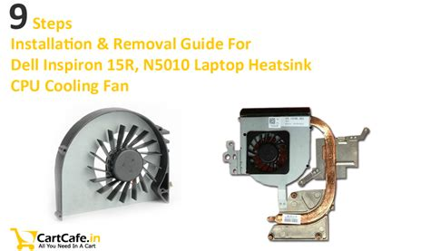 dell inspiron n5110 fan replacement dell inspiron n5110 laptop heatsink cpu fan installation
