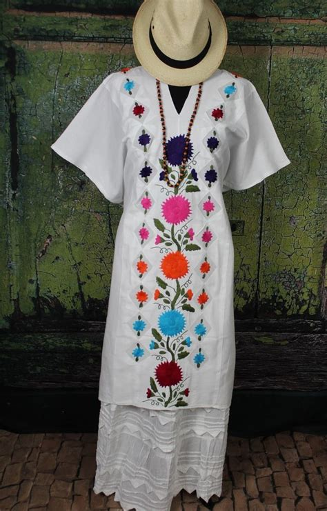 edredones oaxaca multi color white hand embroidered huipil beach cover