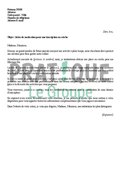 Lettre De Motivation De Stage En Creche Lettre De Motivation Creche Lettre De Motivation 2017