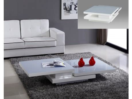 Table Basse Carrée Blanche 138 by Vente Guide D Achat