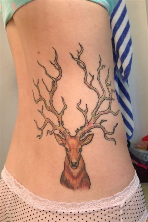 antler tattoo behind ear 1000 images about tattoos on pinterest ribs horseshoe