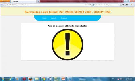 tutorial jsp css listado con paginaci 243 n en jsp con ajax y sql server