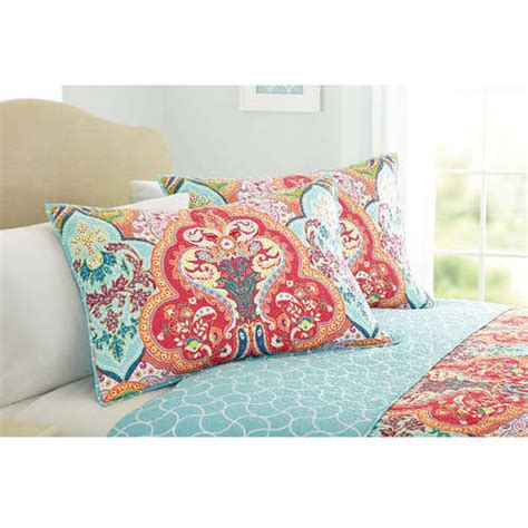 homes  gardens quilt collection jeweled damask