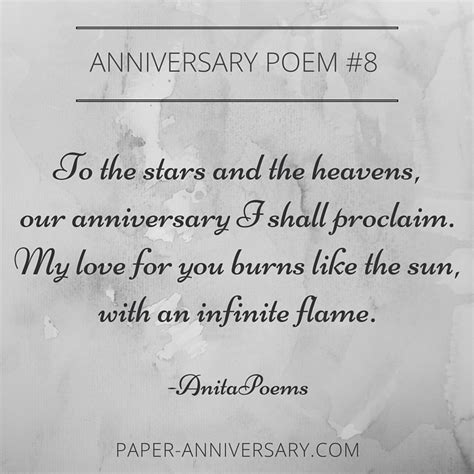 Wedding Anniversary Poems by 13 Beautiful Anniversary Poems To Inspire Paper