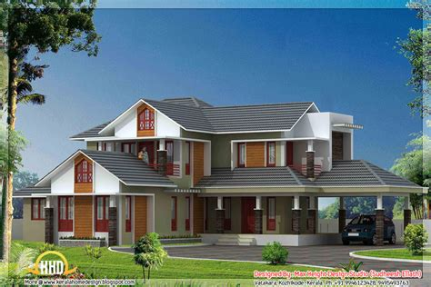 kerala house model plan 5 kerala style house 3d models home appliance
