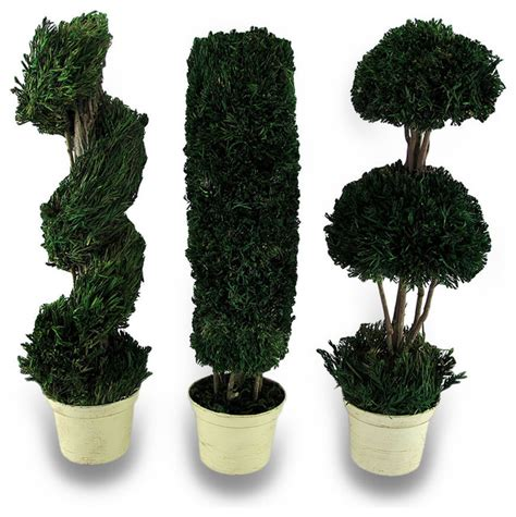 artificial decorative trees for the home decorative 3 piece tabletop topiary set 14 in