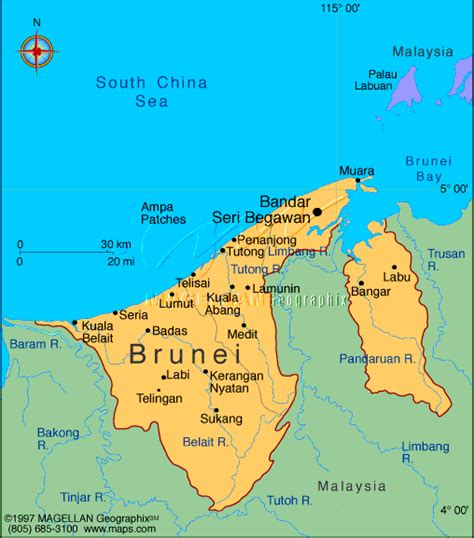 brunei map travellin col about brunei