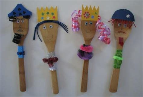 purim crafts for purim puppets from wooden spoons joyful