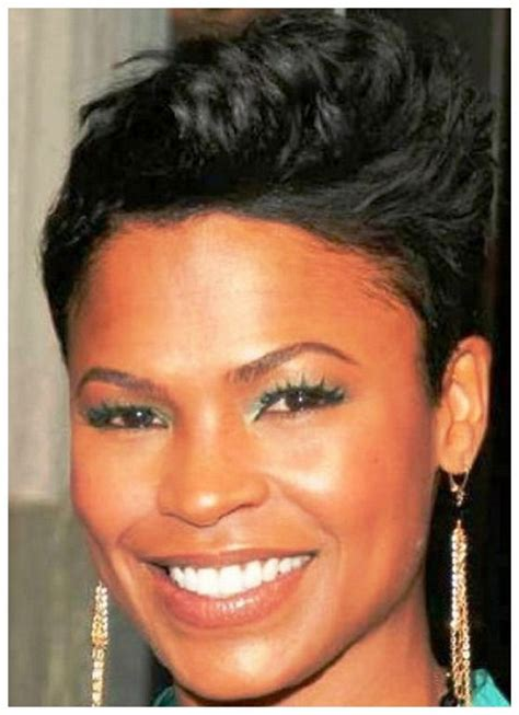 short hair cut for african women with round face black women hairstyles for round faces