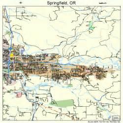 springfield oregon map 4169600