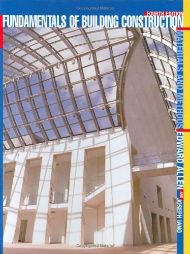 construction methods and planning books fundamentals of building construction materials and