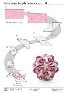 Origami Flower Diagram - little roses kusudama diagram