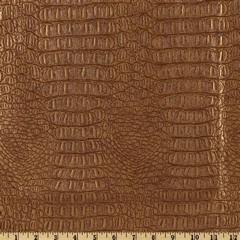 where to buy leather upholstery fabric faux leather gator metallic copper discount designer